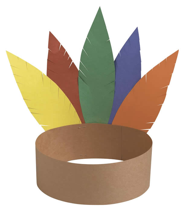 Kindergarten kids at play thanksgiving crafts for Indian hat template