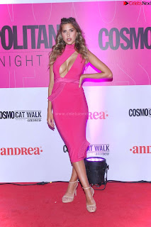 Kara Dell Toro In Stunning Pink Gown at Cosmopolitan Fashion Night in Mexico .xyz Exclusive Pics 005