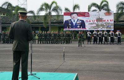 Danrem 043/Gatam Pimpin Upacara Peringatan Hari Pahlawan