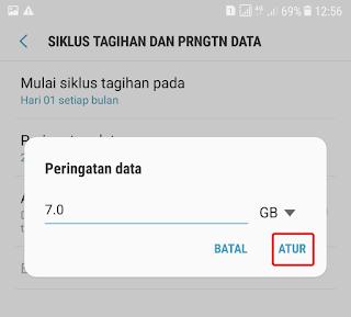 Cara Menghilangkan Peringatan Penggunaan Data di Samsung 21