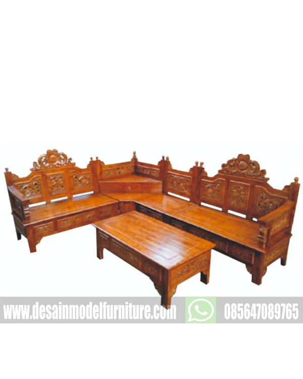 Harga kursi sudut mahkota kayu jati asli jepara