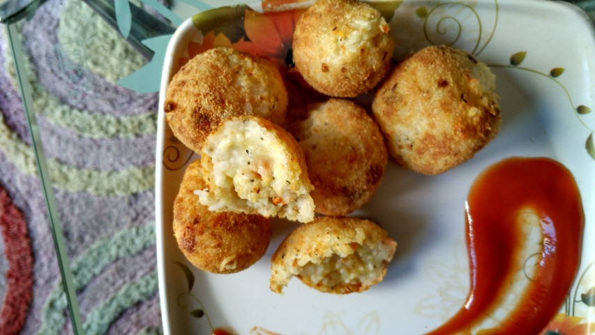 how to make italian cheese rice balls