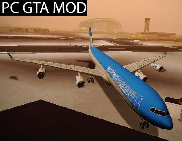 Free Download Airbus A340-300 Aerolineas Argentinas Mod for GTA San Andreas.