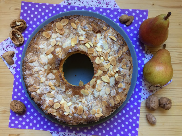 ricotta-and-pear-cake, bizcocho-de-requeson-y-peras