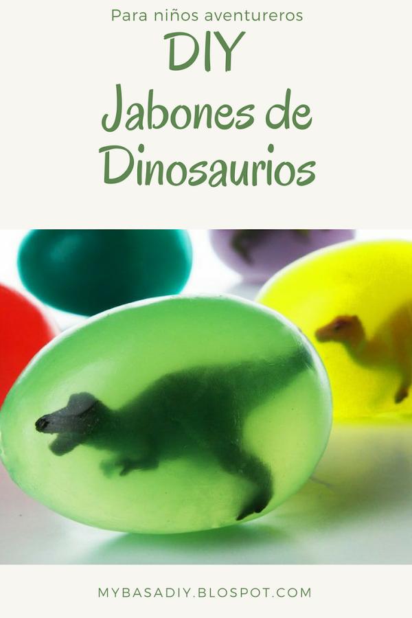 diy paso a paso jabones para niños huevos de dinosaurios regalo fiesta tematica diversión