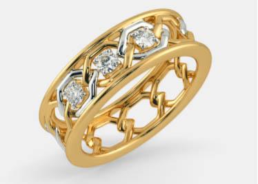 Model Cincin emas putih