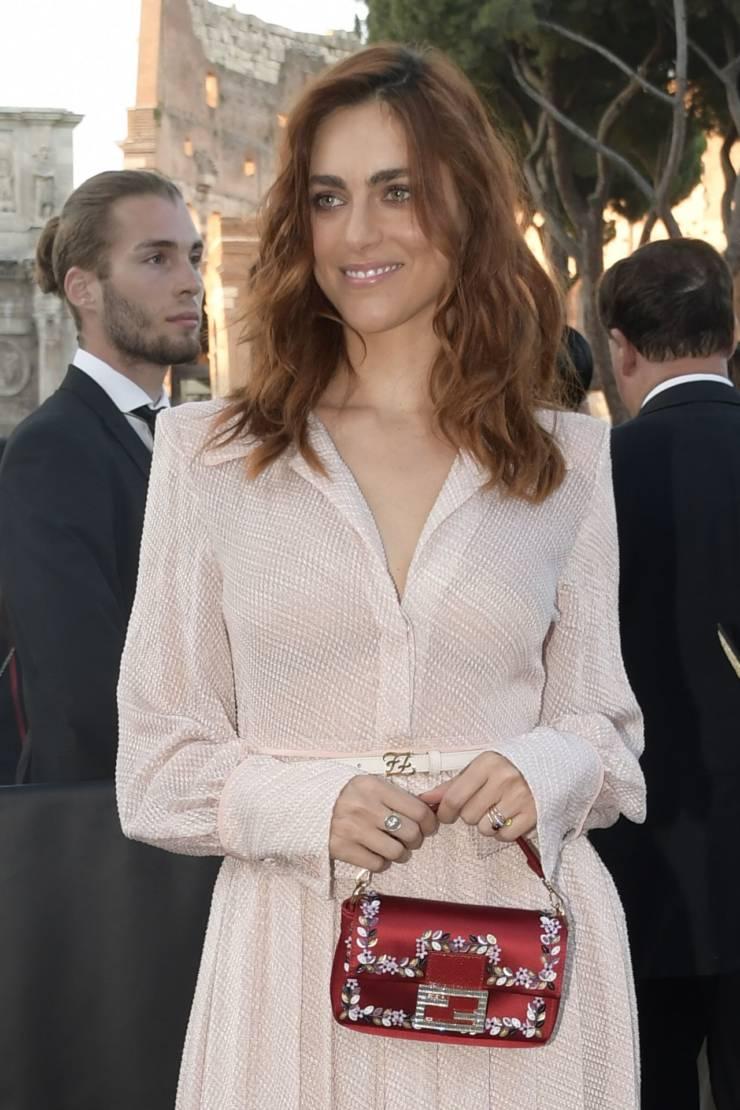 Italian Model Miriam Leone At Fendi Show in Rome