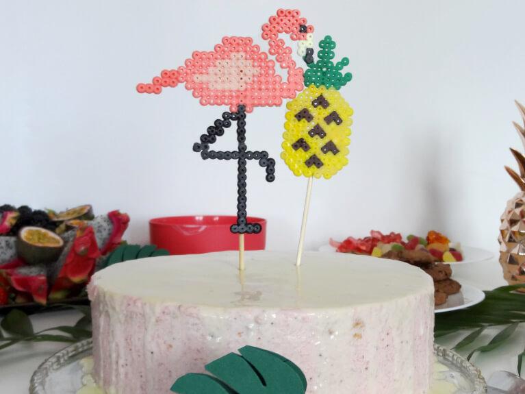 Steffi S Hochzeitsblog Diy Cake Topper Aus Perlen