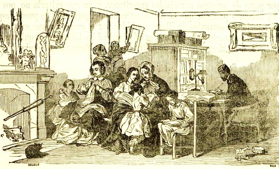 Cabecera de una revista de educación editada en los años sesenta del siglo XIX