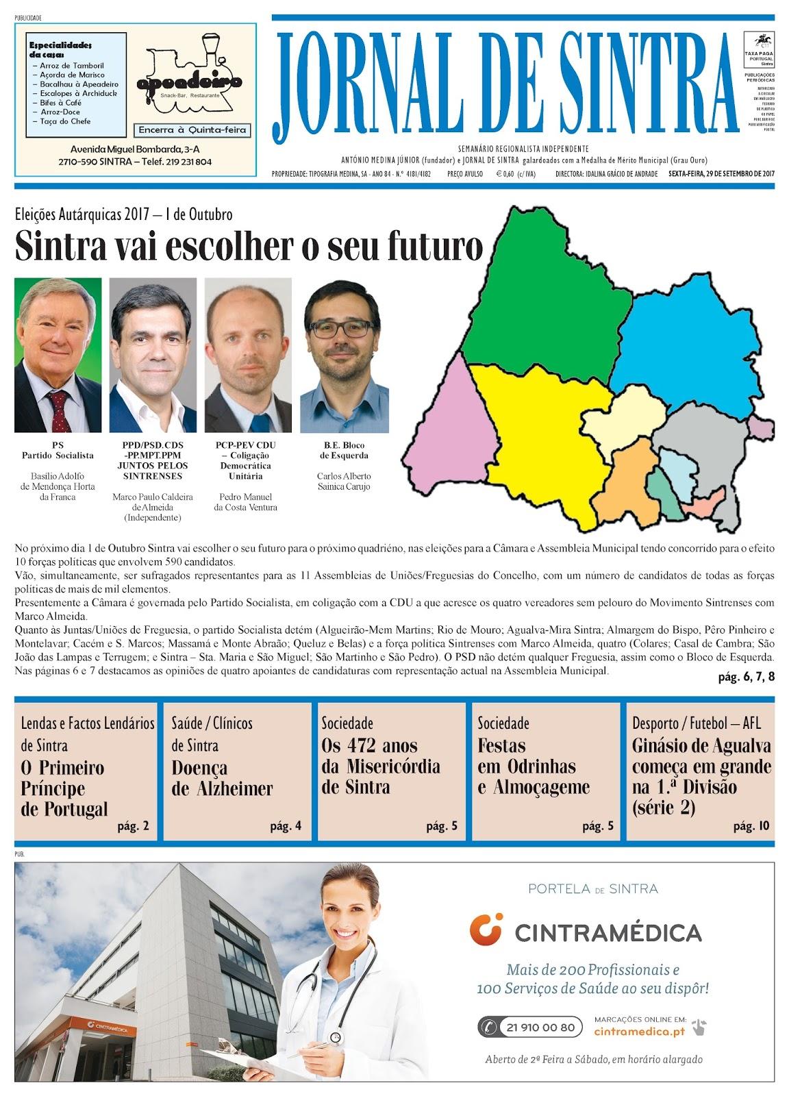 Capa da edição de 29-09-2017