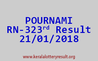 POURNAMI Lottery RN 323 Results 21-01-2018