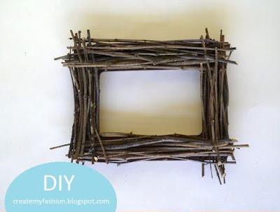 งานประดิษฐ์กรอบรูปกิ่งไม้ ทำเองได้ง่ายๆ