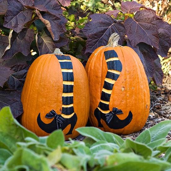 Easy Painted Pumpkins : 2013 Halloween Decorations Ideas ...