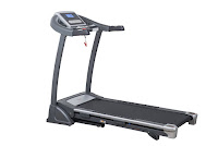 "Sunny Health & Fitness SF-T7604 Motorized Treadmill, with 2.5 hp peak DC motor, speeds from 1 to 11 mph, 18x51"" running surface, 15 programs, 3 incline levels"