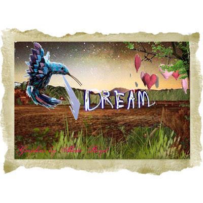 Digital artwork 'Dreams' by Aleda Boyd - Lyrics to Follow that Dream by Elvis Presley