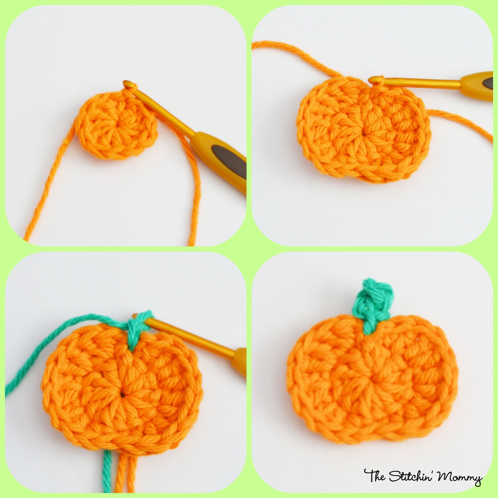 Crochet Star Stitch Pumpkin Coffee Cozy - The Stitchin Mommy
