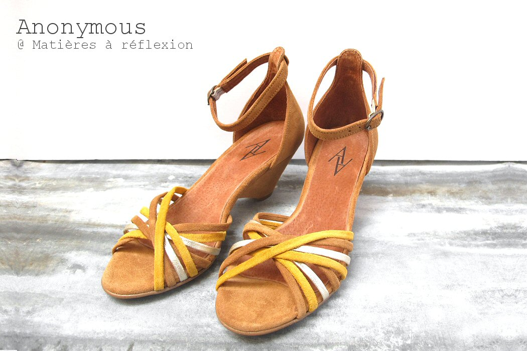 Sandales jaune Tasha Anonymous