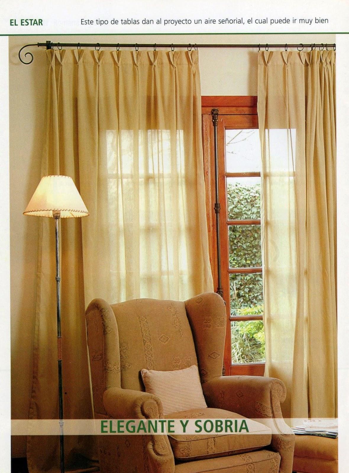 Como hacer cortinas paso a paso revistas de manualidades for Paginas de decoracion de interiores gratis