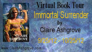 The Immortal Surrender Virtual Book Tour with Claire Ashgrove - September 25, 2012