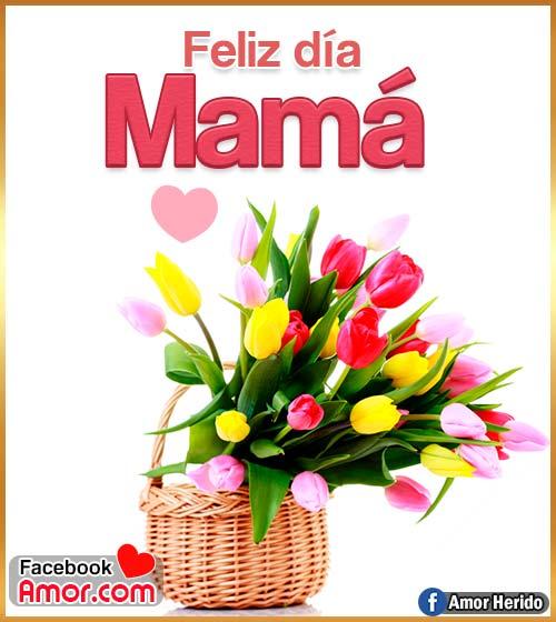 imágenes de flores feliz día mamá