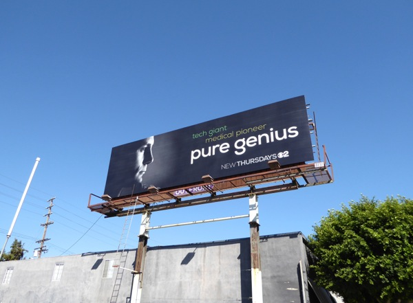 Pure Genius CBS series billboard