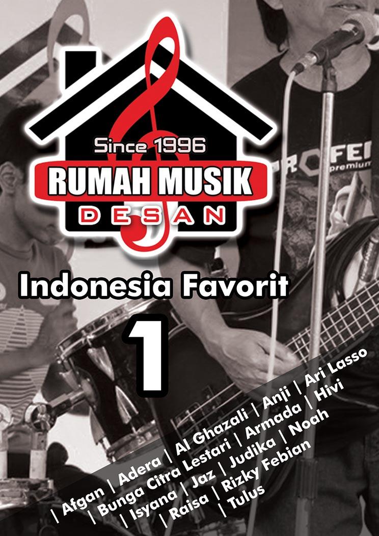 Buku Lagu Indonesia Favorit 1 (Chord & Lirik) ~ Rumah Musik Desan
