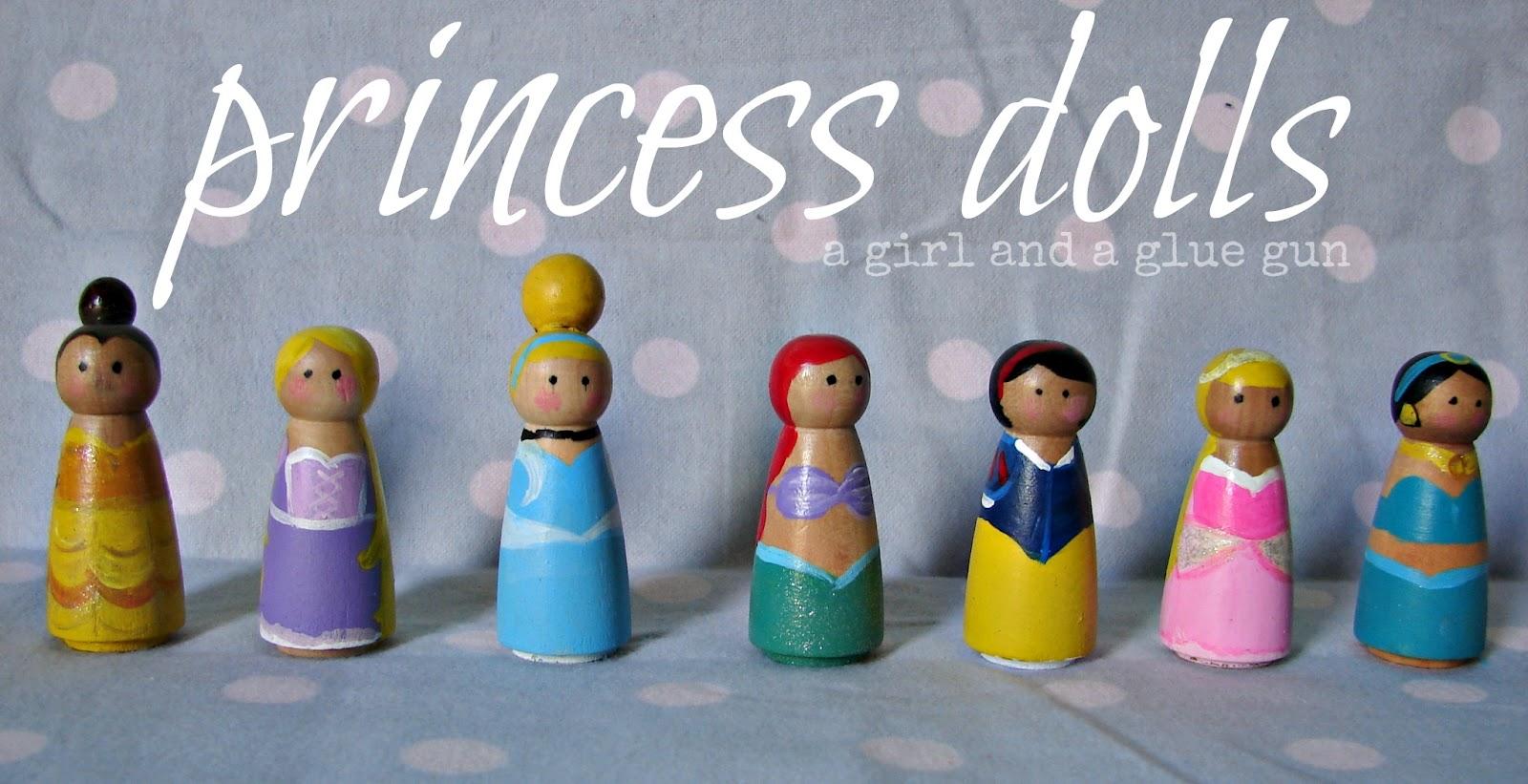 Princess Peg Dolls A Girl And A Glue Gun