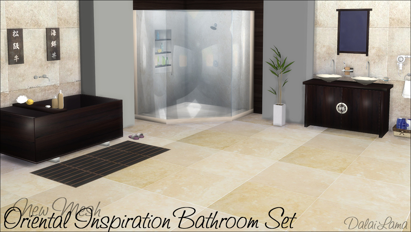 Badezimmer Set One My Sims 4 Blog: Oriental Inspiration Bathroom Set By Dalailama