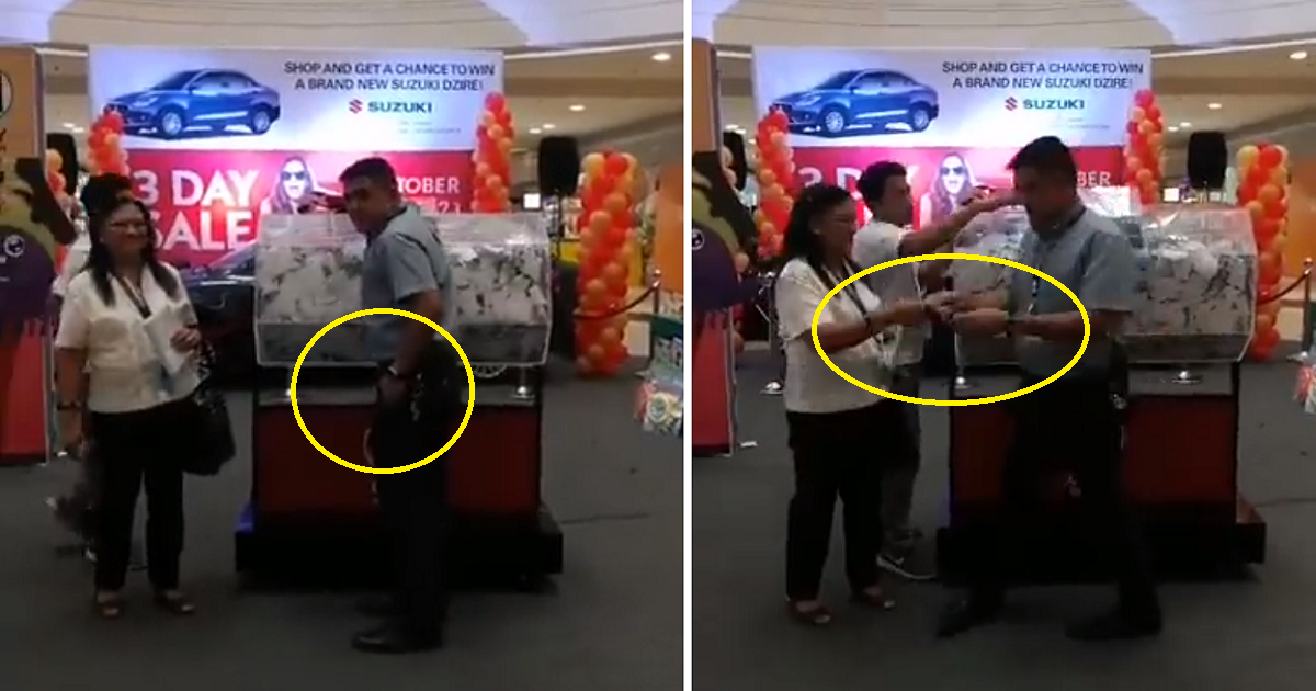 Rigged raffle promo at SM? Eagle-eyed netizens notice 'magician' moves during raffle draw