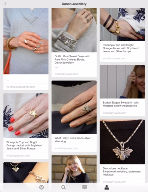 Danon jewellery, Lizzy O Boutique on Pinterest