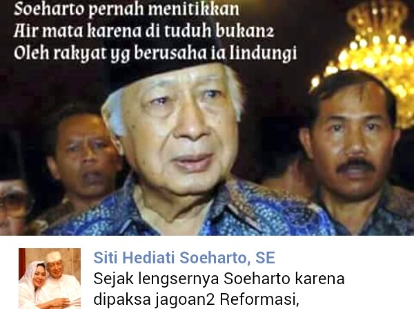Foto Viral Presiden Soeharto Menangis