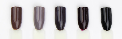 essie nail polish varnish mink muffs chinchilly smokin' hot sole mate licorice swatch swatches