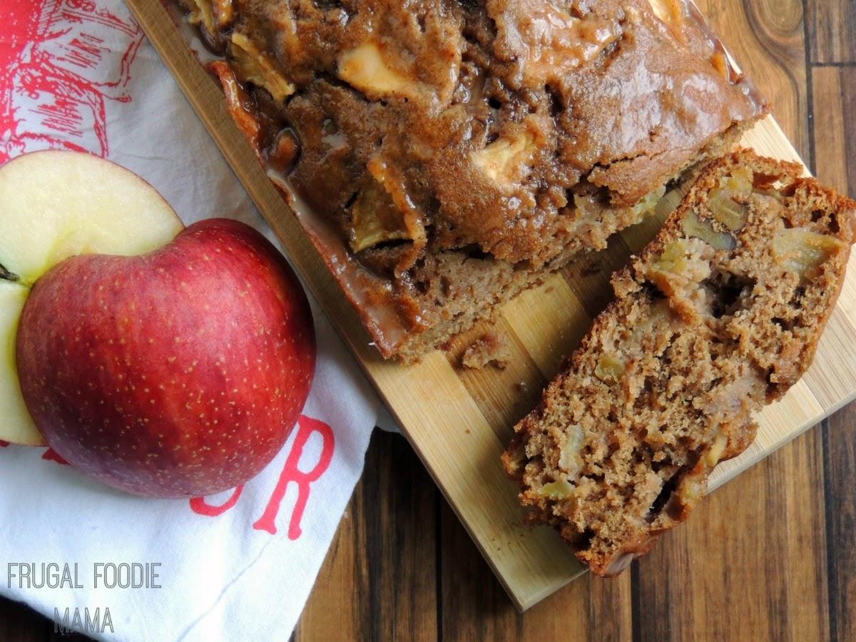 Apple Walnut chai Bread by Frugal Foodie Mama
