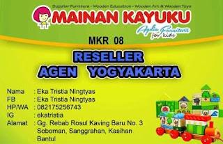 Reseller Mainan Kayuku Yogyakarta Eka