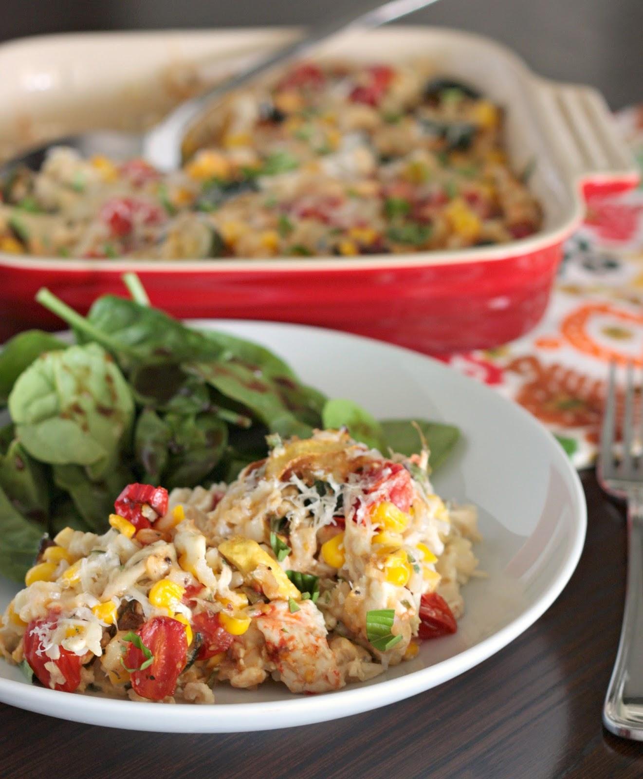 casserole chicken summer vegetable