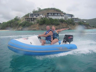 speedboat wave riding in Antigua,