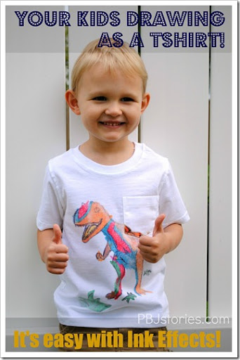 kids drawing transfered to t-shirt