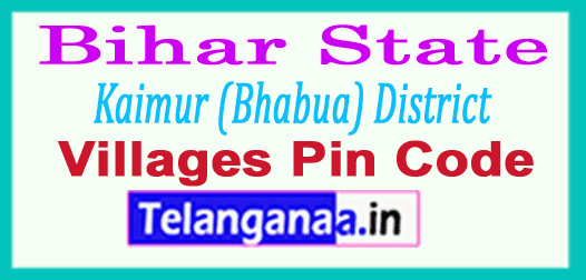Kaimur (Bhabua) District Pin Codes in Bihar State