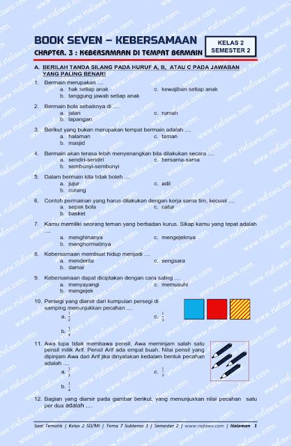 Rief Awa : soal kelas 2 tema 7 subtema 3 revisi