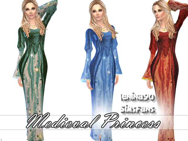 My Sims 4 Blog Medieval Princess Dress And Pirate Queen