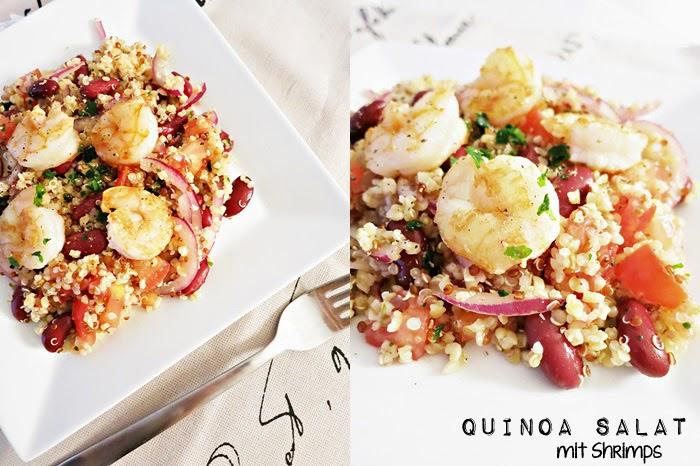 Quinoa Salat mit Shrimps