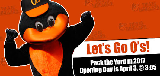 Baltimore Orioles Opening Day 2017 Date
