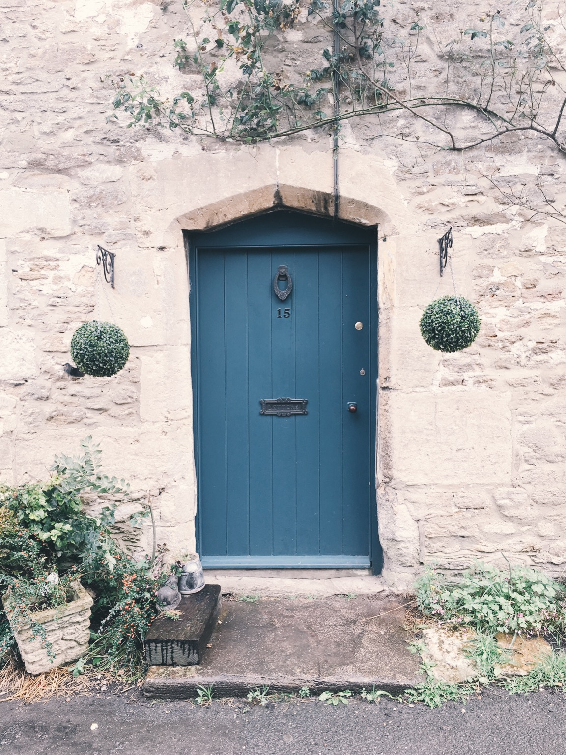 Quaint doorway in English countryside