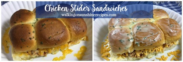 BBQ Chicken Slider Sandwiches from Walking on Sunshine Recipes