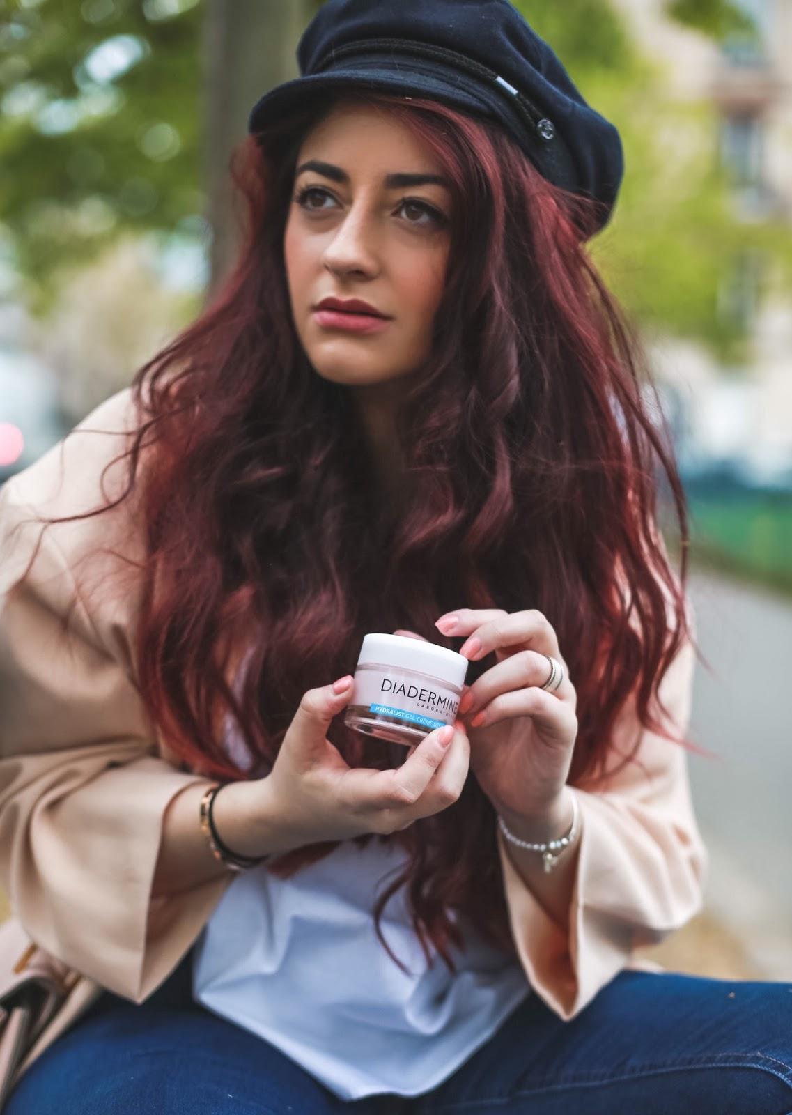 routine beauté anti-déshydratation urbaine d'une parisienne