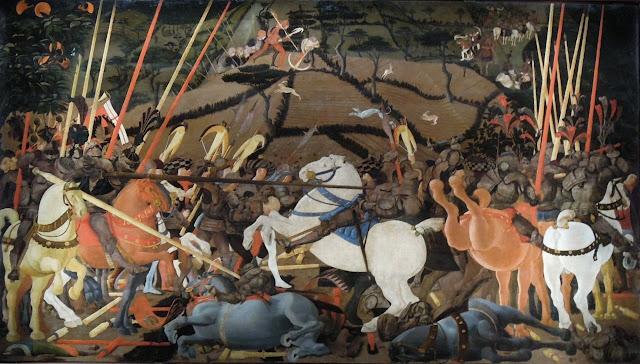 Paolo Uccello (1397 - 1475): The Battle of San Romano, c. 1438–1440