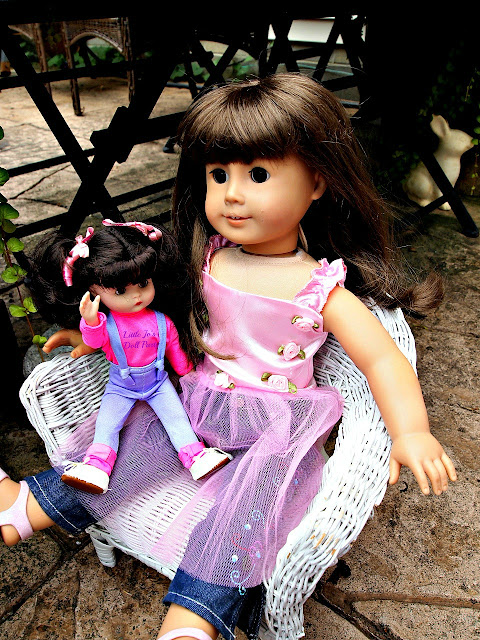 American girl Samantha, Broken Pot Fairy Garden, Container Gardening,