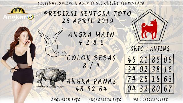 Prediksi Angka Jitu SENTOSA TOTO 26 APRIL 2019
