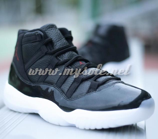 """ab5336d67a4e48 Air Jordan 11 Retro """"72-10″ Black Gym Red-White-Anthracite 378037-002. December  19"""