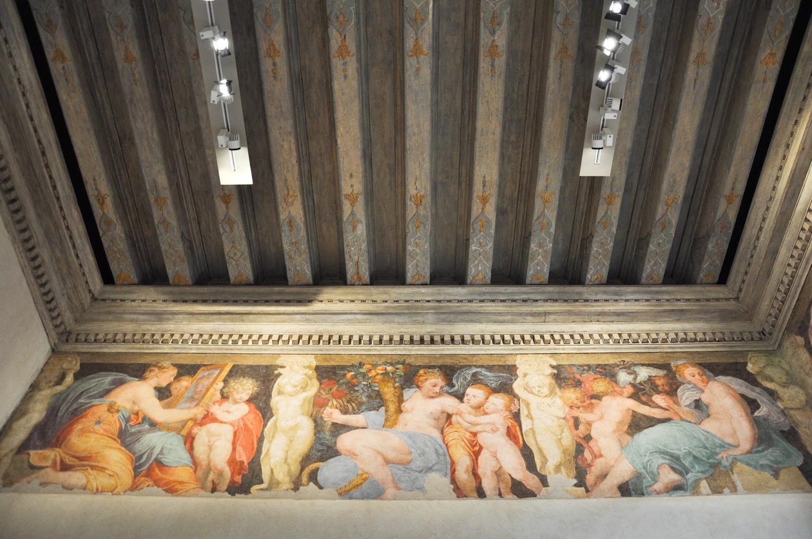 beautiful frieze Civic Art Gallery Palazzo Chiericati Vicenza Italy